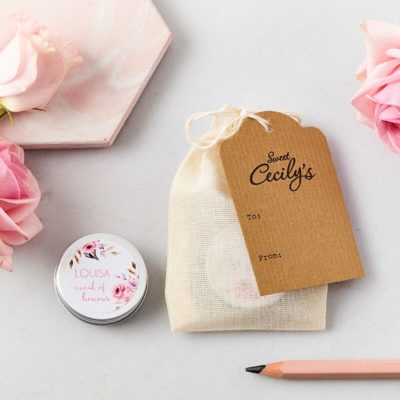 Maid of Honour Lip Balm with bag and tag 2