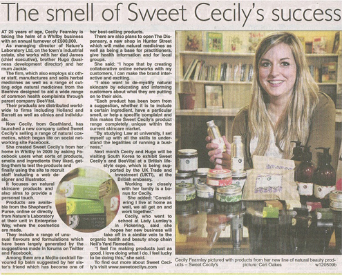 Cecily in the Whitby Gazette
