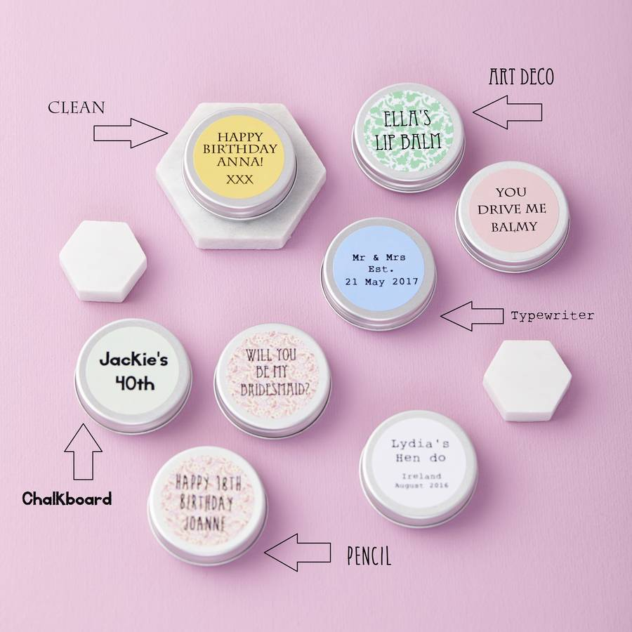 Personalised Lip Balm | Sweet Cecily\'s
