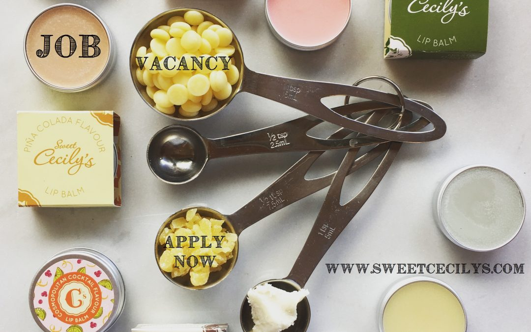 Job Vacancy at Sweet Cecily's